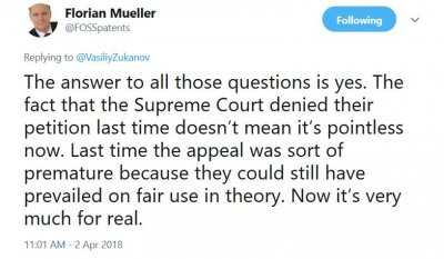 Florian Mueller Twitter