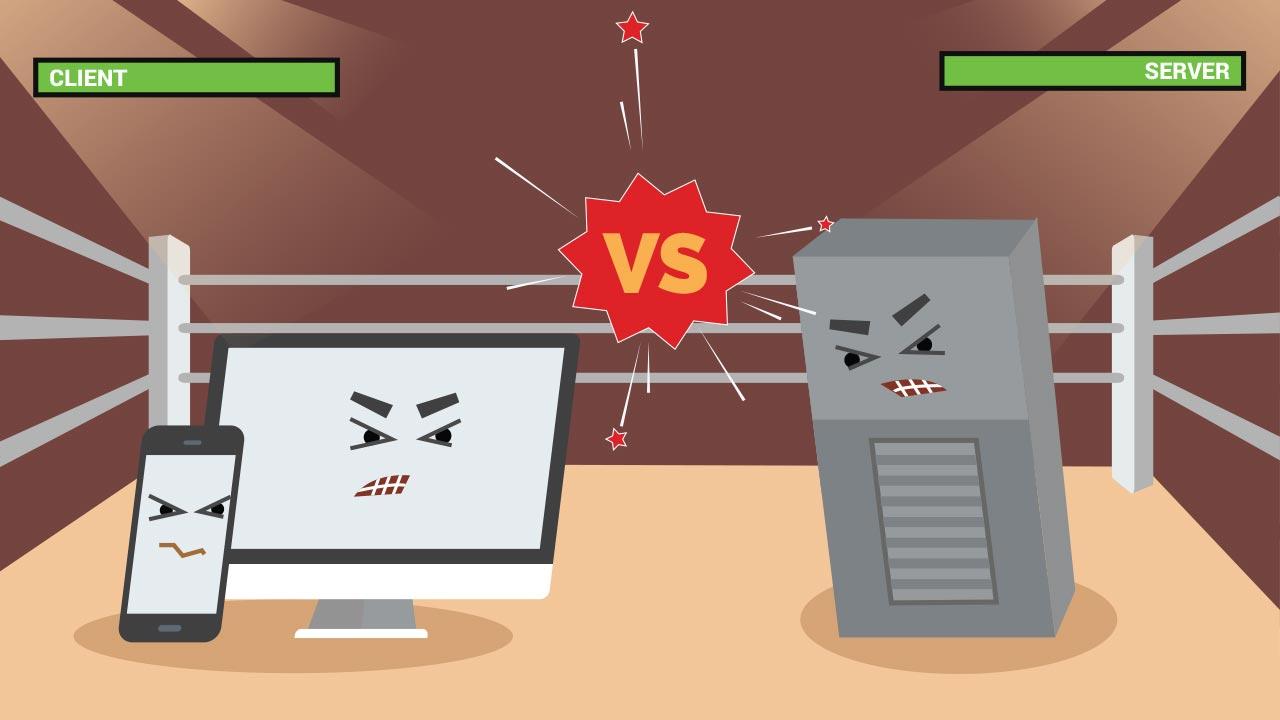 client vs server